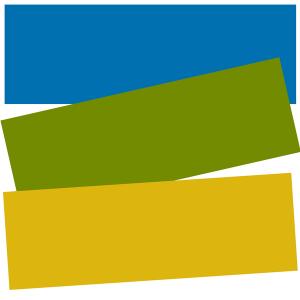logo: cyjan, oliwka, złoto